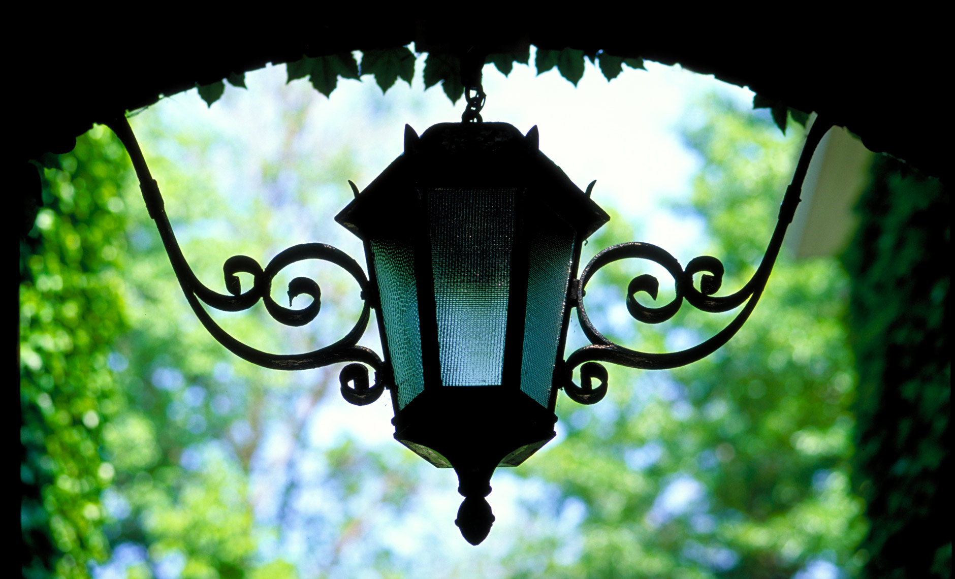 close up of lantern at Harvard Business School