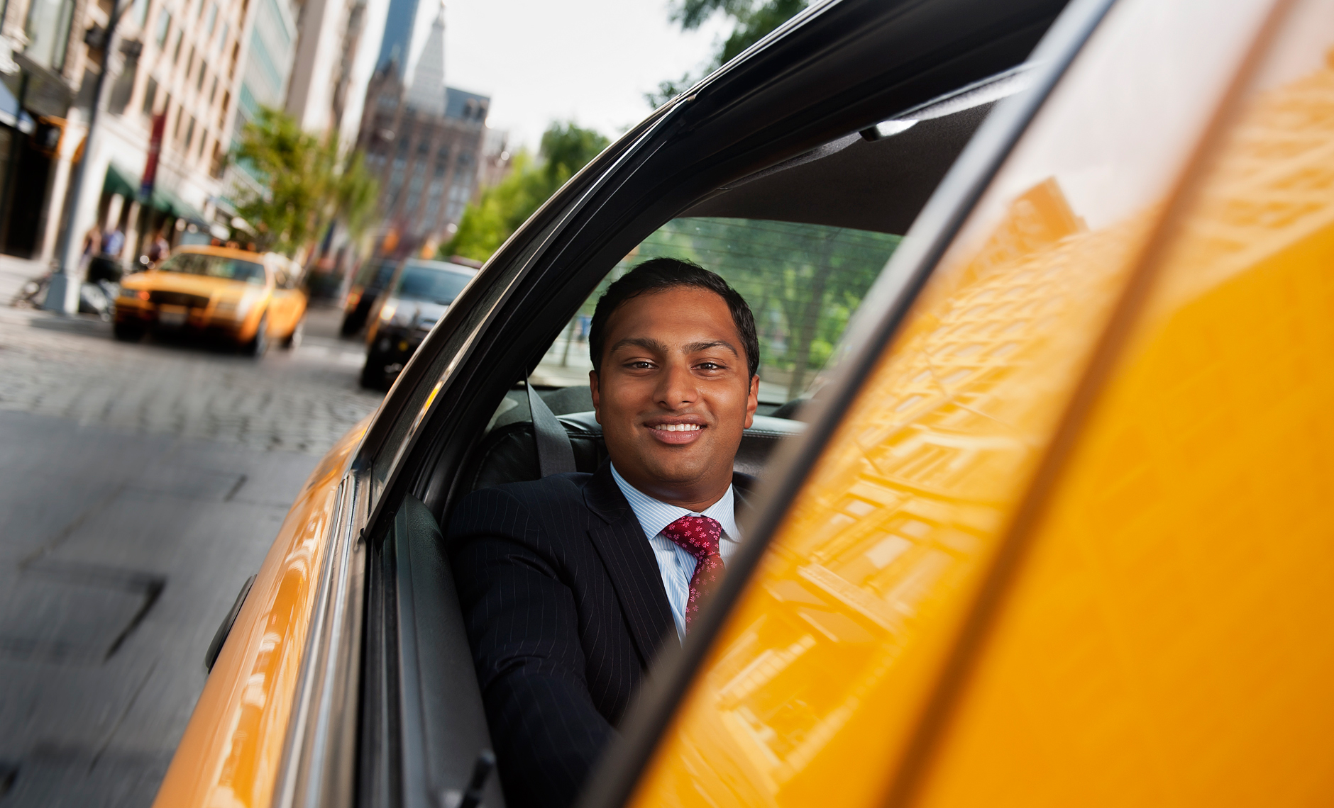 Chirag Shah in New York City Taxi cab