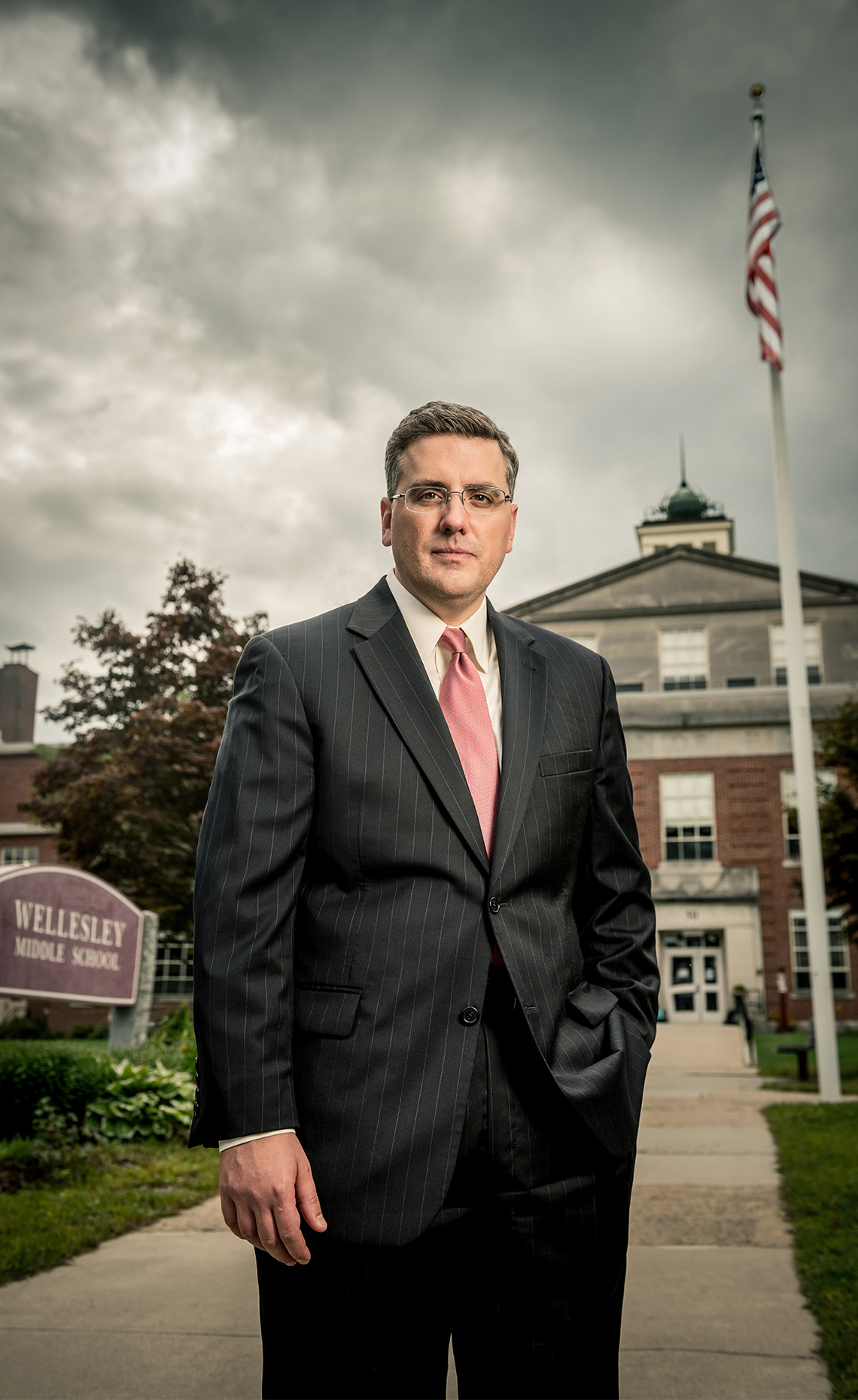 Dr. David Lussier, superintendant of schools in Wellesley, MA